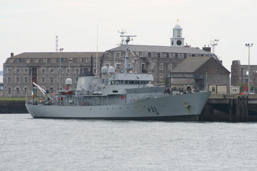 The LÉ Aisling was sold last year to a Dutch ship broker at auction