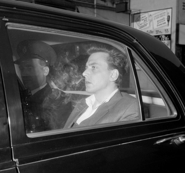 Brady in police custody prior to his court appearance for the Moors Murders. Photo: PA Wire