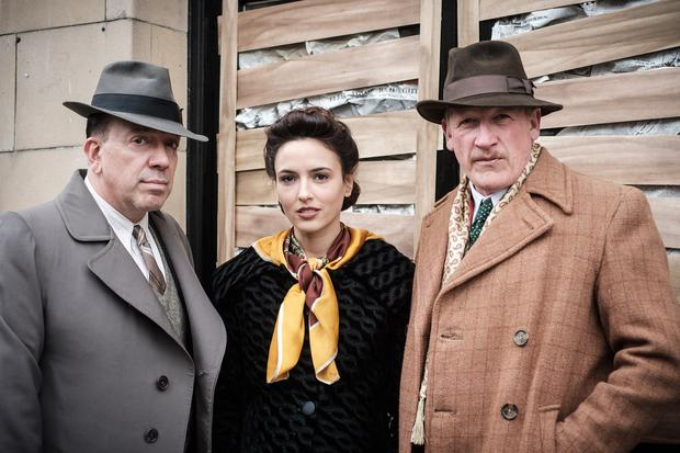 Terry Stone, Nadia Forde and Geoff Bell on the set of Once Up On A Time In London