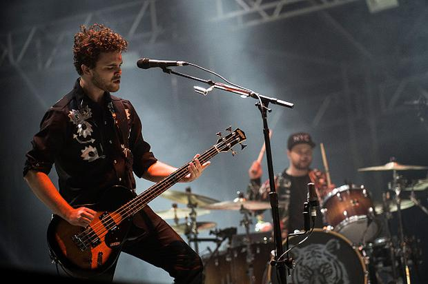 Mike Kerr and Ben Thatcher of the band Royal Blood performs for fans during Splendour in the Grass on July 26, 2015 in Byron Bay, Australia. (Photo by Cassandra Hannagan/Getty Images)