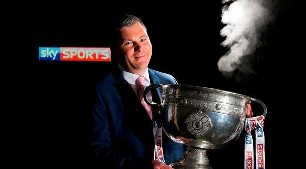 James Horan at the launch of Sky Sports' coverage of the 2017 GAA Championships. Photo by Brendan Moran/Sportsfile