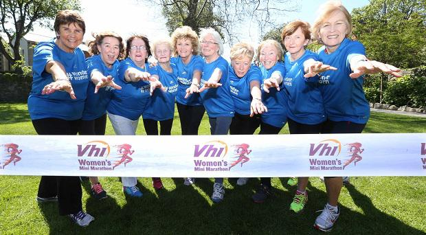 The ten #wonderwomen who have taken part in every year of the Women's Mini Marathon came together to celebrate this special milestone