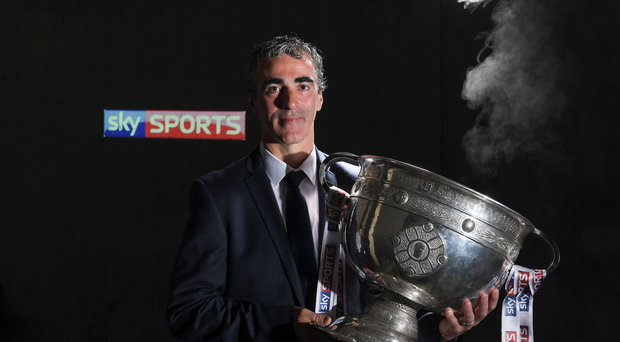 16 May 2017; Sky Sports will have expert analysis this summer from Jim McGuinness, Peter Canavan, James Horan, Jamesie OConnor, JJ Delaney, Ollie Canning and many more, including new addition to the analysis team, Monaghan football legend Dick Clerkin. Pictured at the announcement in Croke Park is Jim McGuinness. Photo by Brendan Moran/Sportsfile