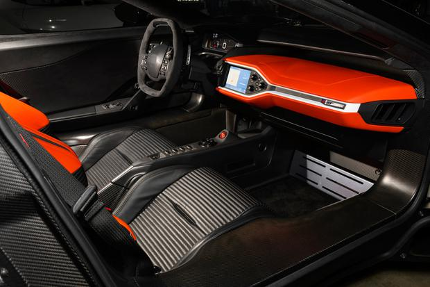 The interior of the GT