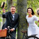 Bryan Dobson and Lorraine Keane launch the 24th annual bike rally in aid of the Irish Youth Foundation, which will take place on Bloomsday