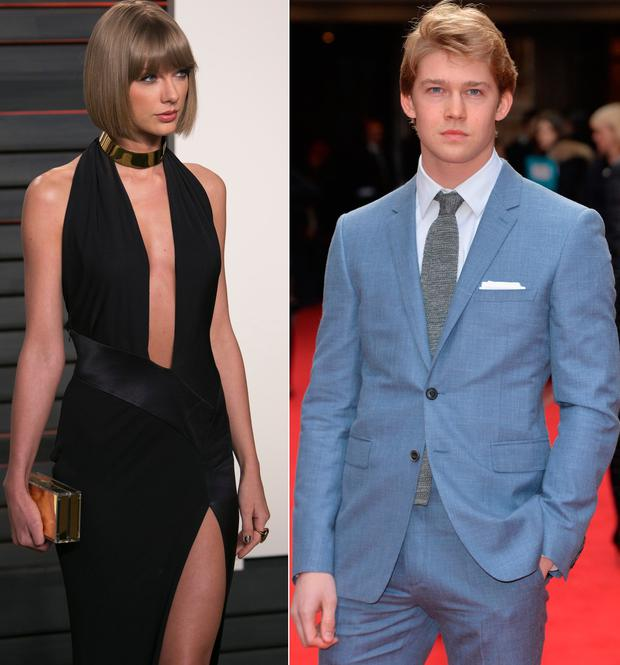 Taylor Swift left and rumoured new boyfriend Joe Alwyn right