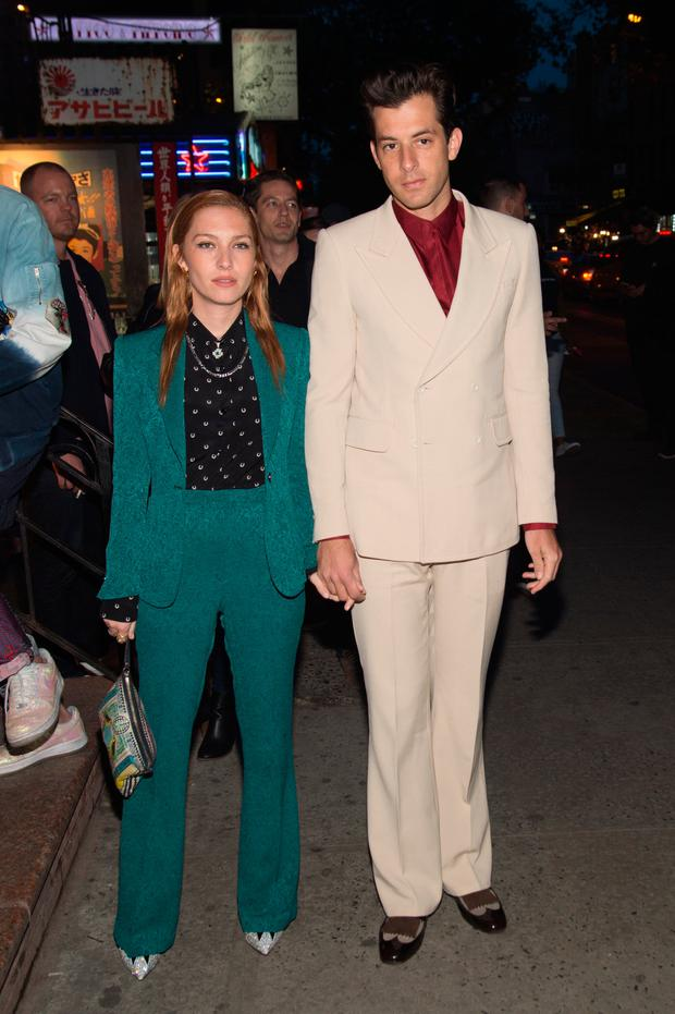 Josephine de la Baume (L) and Mark Ronson attend the Vogue.com Met Gala Cocktail Party at Search & Destroy on April 30, 2016 in New York City. (Photo by Mark Sagliocco/Getty Images)