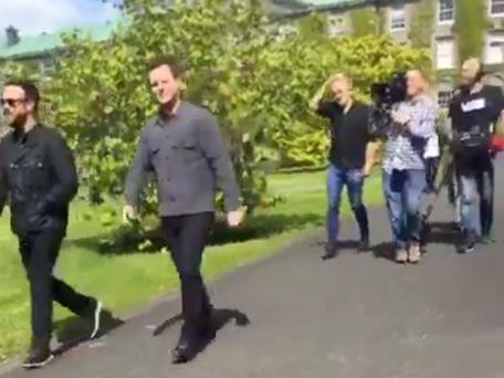 Ant and Dec filming in Maynooth. PIC: Twitter @IsMiseLaura