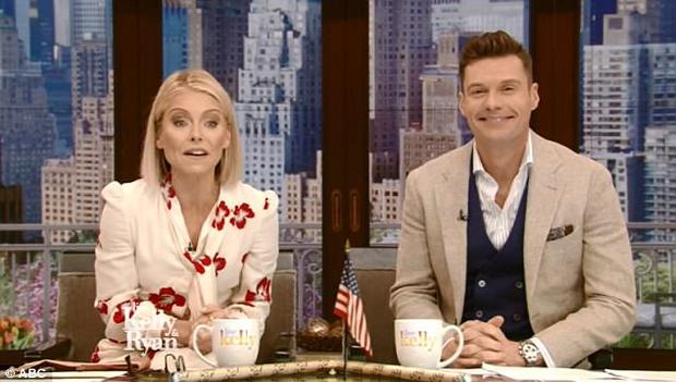 Kelly Ripa and Ryan Seacrest on 'Live with Kelly and Ryan'.