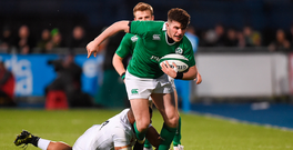 17 March 2017; Calvin Nash of Ireland is tackled by Dom Morris of England during the RBS U20 Six Nations Rugby Championship match between Ireland and England at Donnybrook Stadium in Donnybrook, Dublin. Photo by Matt Browne/Sportsfile