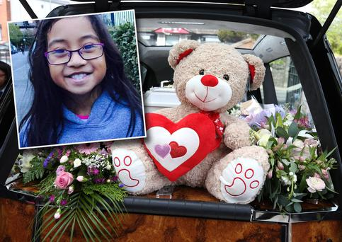 Michaela Gonda (9) was laid to rest today in Saggart