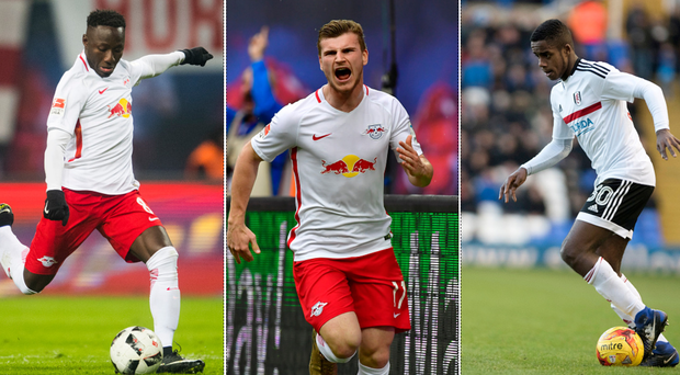 Naby Keita, Timo Werner and Ryan Sessegnon