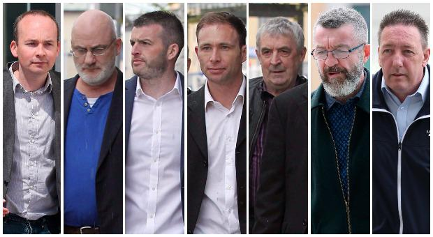 Paul Murphy, Michael Murphy, Scott masterson, Ciaran Mahon, Frank Donaghy, Ken Purcell and Michael Banks