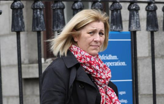 Julie Dowson, of The Green, Frosterley, Bishop Auckland, County Durham, England pictured leaving the Four Courts after a Circuit Civil Court action Pic: Collins Courts