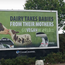 Billboard which group Go Vegan World says has been vandalised. Image: Go Vegan World.