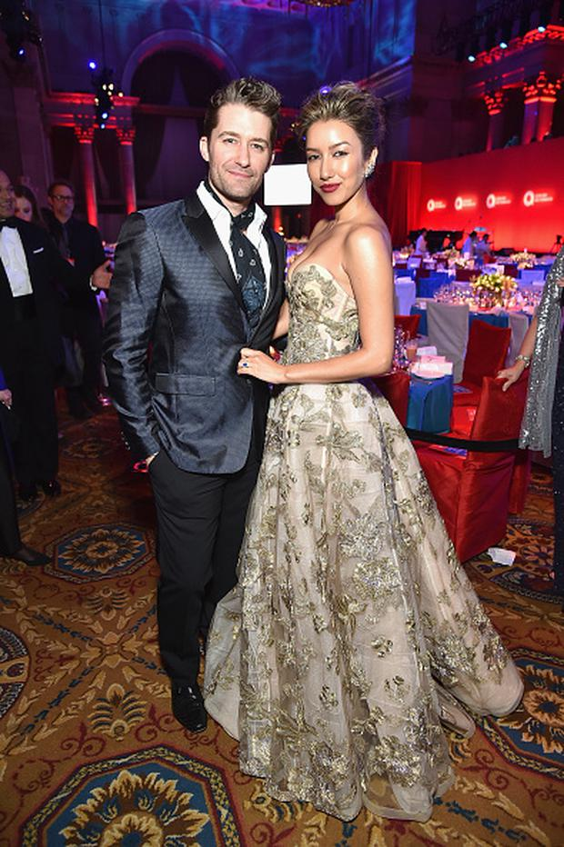 Matthew Morrison and Renee Puente attend the 15th Annual Elton John AIDS Foundation An Enduring Vision Benefit at Cipriani Wall Street on November 2, 2016 in New York City. (Photo by Mike Coppola/Getty Images)