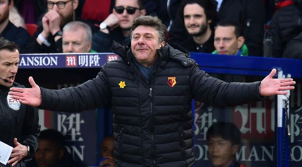 Walter Mazzarri was sacked yesterday as Watford manager. Photo: Glyn Kirk/Getty