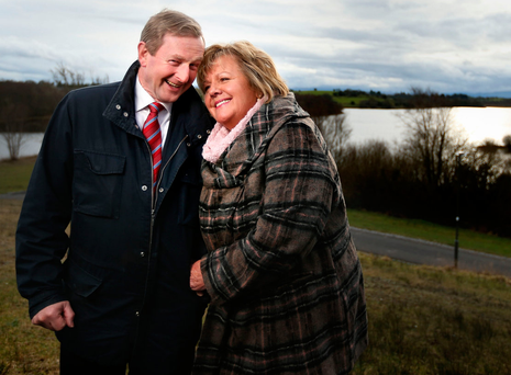 Enda and Fionnuala Kenny at Lough Lannagh in Castlebar on the eve of the 2016 election. Photos: Gerry Mooney