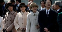 Japan's Princess Kako and Princess Mako with their parents Prince Akishino and Princess Kiko. Photo: Reuters/Issei Kato