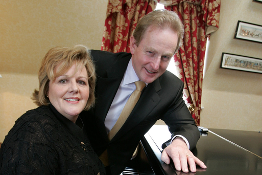 Enda Kenny and his wife Fionnuala tickle the ivories in 2007. Photo: Tom Burke