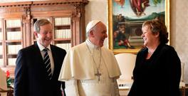 Enda and Fionnuala Kenny meet Pope Francis during a private audience in the Vatican last November. Photo: Alessandra Tarantino/Reuters