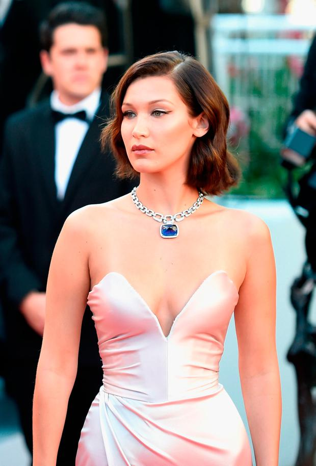 CANNES, FRANCE - MAY 17: Bella Hadid attends the