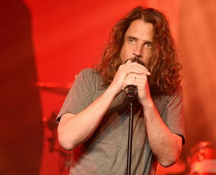 LOS ANGELES, CA - JANUARY 20: Singer Chris Cornell performs at Prophets of Rage and Friends' Anti Inaugural Ball at the Taragram Ballroom on January 20, 2017 in Los Angeles, California. (Photo by Kevin Winter/Getty Images)