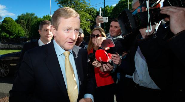 An Taoiseach Enda Kenny arrives at the British Irish Chamber of Commerce Brexit Meeting in the RDS. Photo: Tony Gavin 18/5/2017