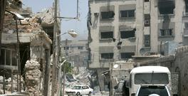 A view shows damaged buildings in Qaboun neighbourhood of Damascus, Syria Photo: SANA/Handout via REUTERS