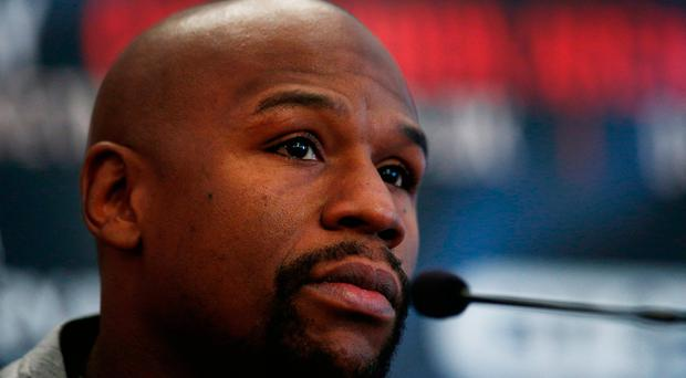 Floyd Mayweather during the press conference