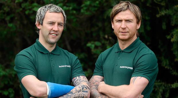 Former All-Star forwards Conor Mortimer and Owen Mulligan pictured as they were announced as Paddy Power's GAA ambassadors. Pic : Lorraine O'Sullivan/Sharppix