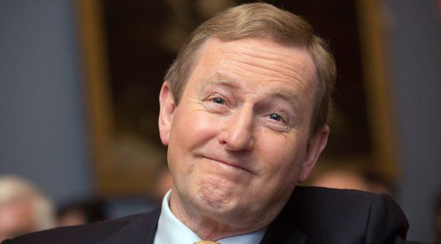Enda Kenny at the British Irish Chamber of Commerce Brexit Meeting in the RDS yesterday. Photo: Tony Gavin