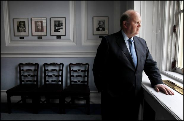 Michael Noonan at the Department of Finance in 2013 Picture: Steve Humphreys