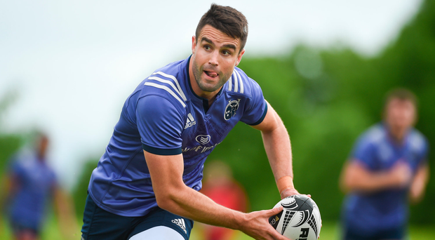 15 May 2017; Conor Murray of Munster during squad training at the University of Limerick in Limerick. Photo by Diarmuid Greene/Sportsfile