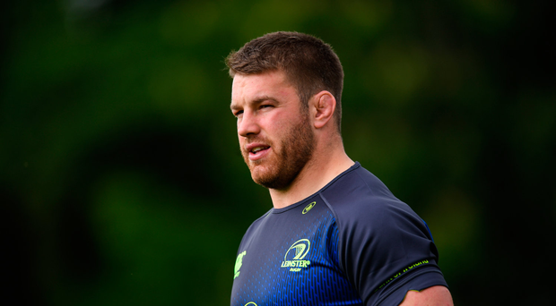 15 May 2017; Leinster's Sean O'Brien during squad training at UCD in Dublin. Photo by Stephen McCarthy/Sportsfile