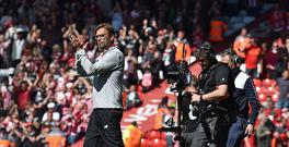 LIVERPOOL, ENGLAND - MAY 07: (THE SUN OUT, THE SUN ON SUNDAY OUT) Jurgen Klopp Manager of Liverpool at the end of the Premier League match between Liverpool and Southampton at Anfield on May 7, 2017 in Liverpool, England. (Photo by Andrew Powell/Liverpool FC via Getty Images)