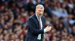 Sunderland manager David Moyes during the Premier League match between Arsenal and Sunderland at The Emirates, London, England on 16 May 2017. (Photo by Kieran Galvin/NurPhoto via Getty Images)