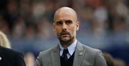May 16th 2017, Etihad Stadium, Manchester, England; EPL Premier League football, Manchester City versus West Bromwich Albion; Manchester City manager Pep Guardiola before the game (Photo by Alan Martin/Action Plus via Getty Images)