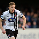 14 April 2017; David McMillan of Dundalk during the SSE Airtricity League Premier Division match between Dundalk and Bray Wanderers at Oriel Park in Dundalk, Co Louth. Photo by Piaras Ó Mídheach/Sportsfile