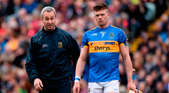 Tipperary manager Michael Ryan with captain Pádraic Maher. Photo: Sportsfile
