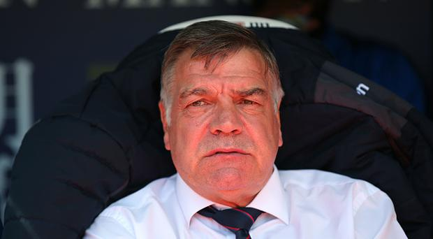 LONDON, ENGLAND - MAY 14: Sam Allardyce, Manager of Crystal Palace looks on prior to the Premier League match between Crystal Palace and Hull City at Selhurst Park on May 14, 2017 in London, England. (Photo by Steve Bardens/Getty Images)