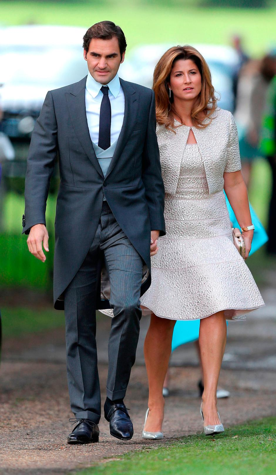 Roger Federer among guests to arrive at church ahead of Pippa