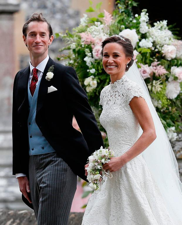 Pippa Middleton and James Matthews leave St Mark's church in Englefield, Berkshire, following their wedding.