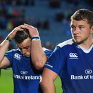19 May 2017; Leinster players, from left, Hayden Triggs, Robbie Henshaw and Ross Molony following the Guinness PRO12 Semi-Final match between Leinster and Scarlets at the RDS Arena in Dublin. Photo by Stephen McCarthy/Sportsfile