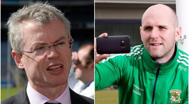 Joe Brolly (left) and Rory O'Connor of Rory's Stories (right).