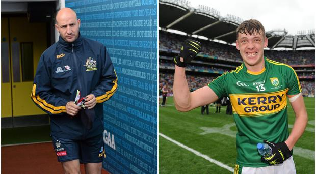 Tadhg Kennelly (left) and David Clifford (right).