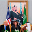 US President Donald Trump, first lady Melania Trump, Saudi Arabia's King Salman bin Abdulaziz al-Saud plus translators in Riyadh yesterday. Photo: Getty Images
