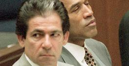 OJ Simpson with Attorney Robert Kardashian at the so called 'trial of the century'. Photo: Vince Bucci/AFP/Getty Images