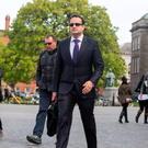 Minister Leo Varadkar arriving at Trinity College Dublin. Photo: Mark Condren
