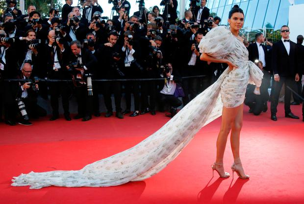Kendall Jenner wore a Giambattista Valli minidress for the screening of the film